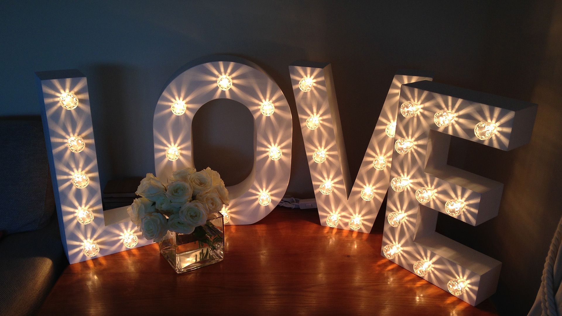 Written In Lights: Beautiful Light Up Letters Hire + Hearts & Shapes for for Weddings & Events